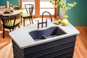 granite islands sink but no space