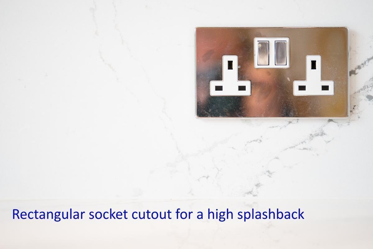 rectangular socket cutout brittanicca worktop quotation