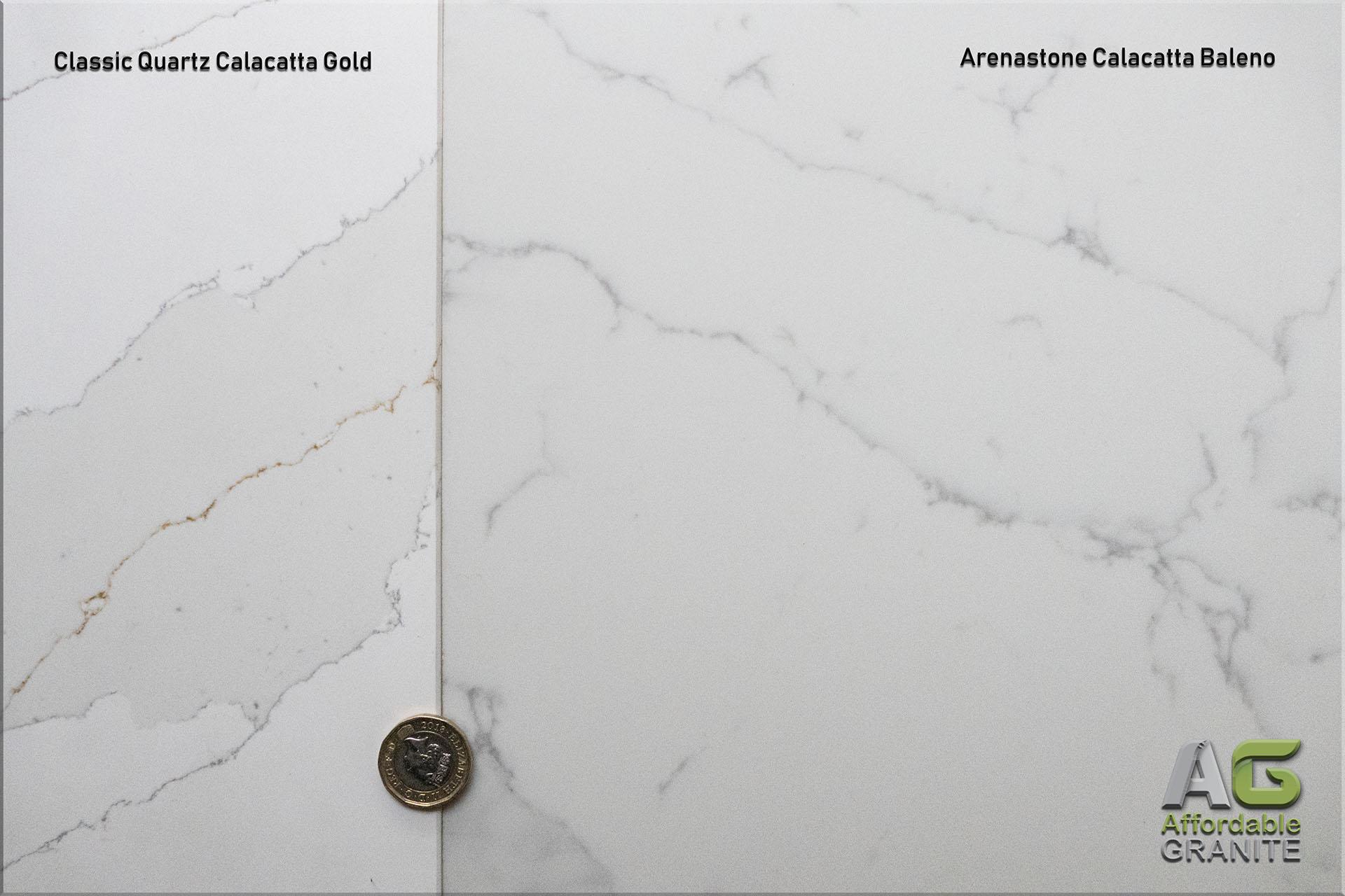 Arenastone Calacatta Baleno Classic Quartz Calacatta Gold red