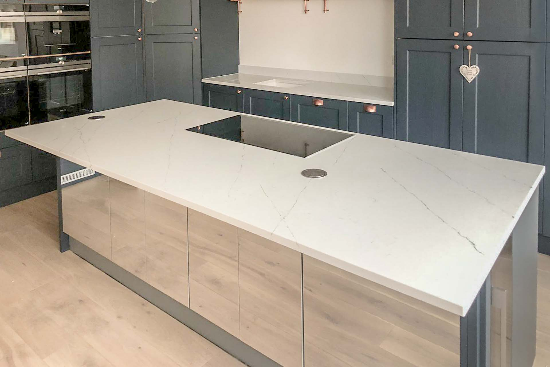 Arenastone Calacatta Delicato marble-look quartz worktops