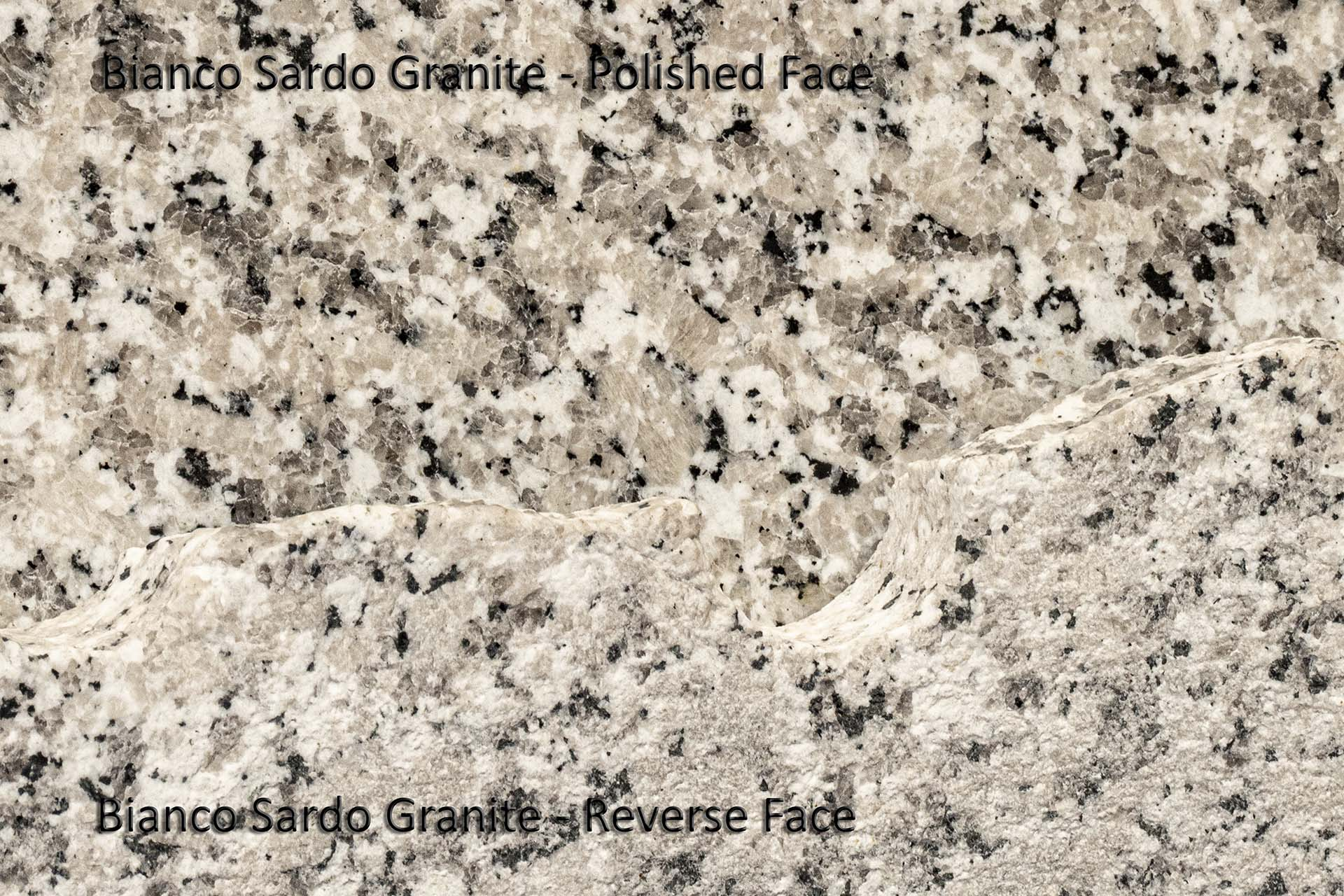 Bianco Sardo rough slab face jenny lind underpolishing