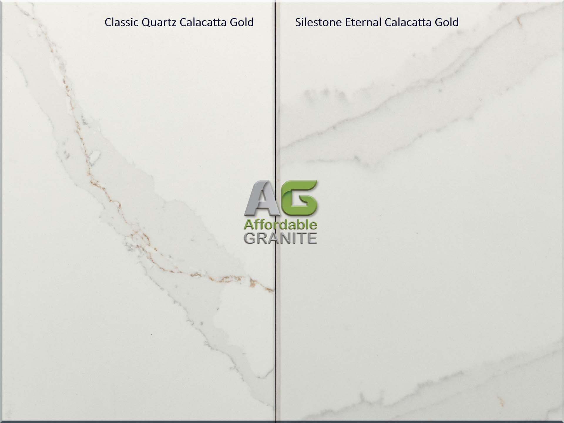CQ Calacatta Gold and Silestone Calacatta Golda