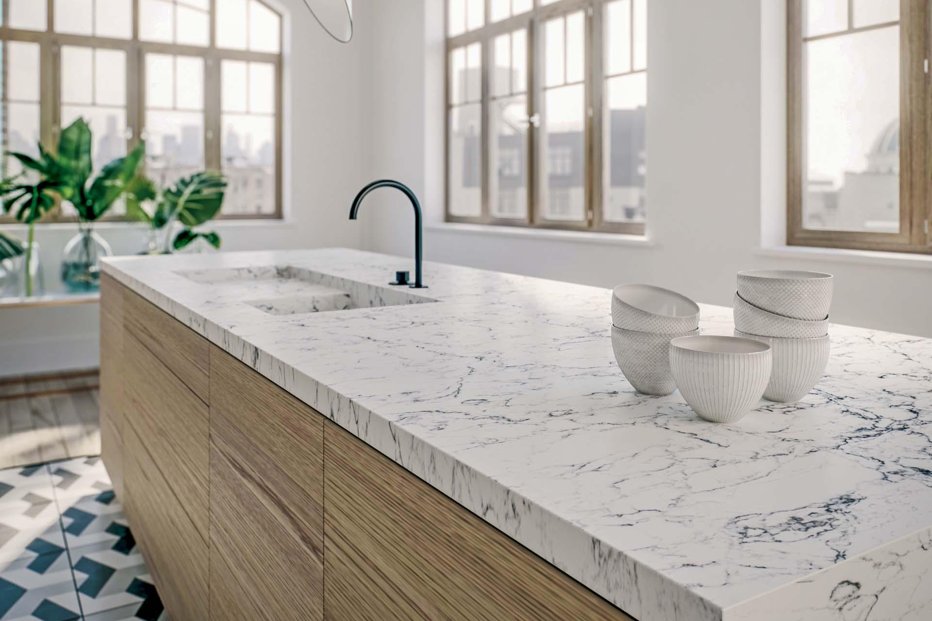 Caesarstone 5143 White Attica special offer quartz worktops guildford surrey