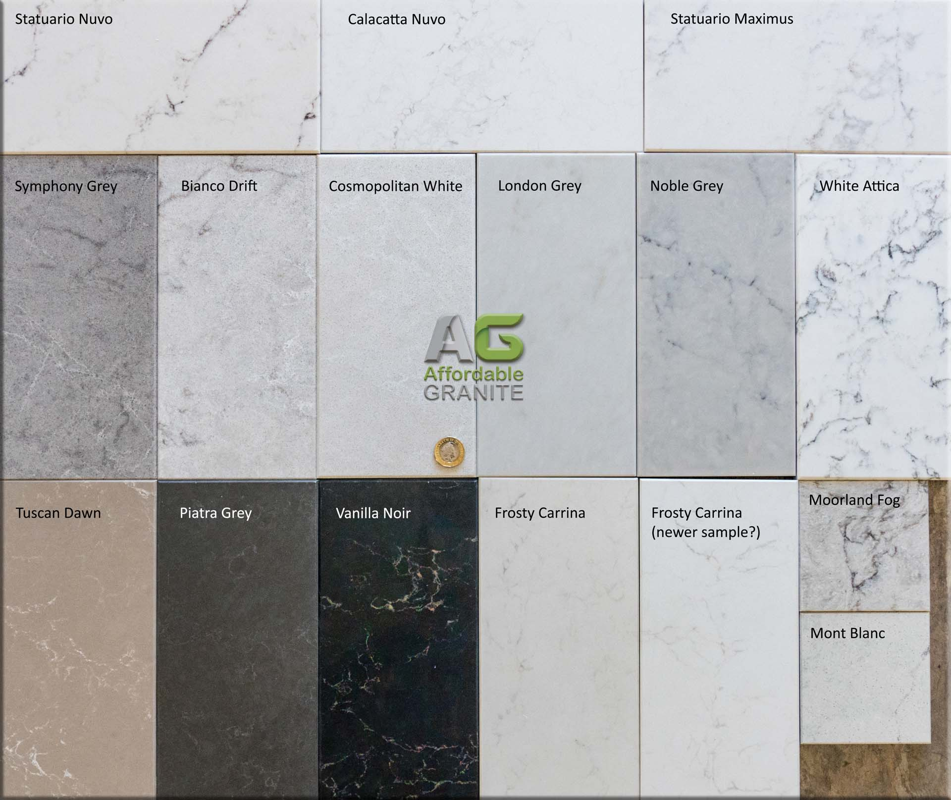 Caesarstone Marbled Quartz Groups 4 and 5a
