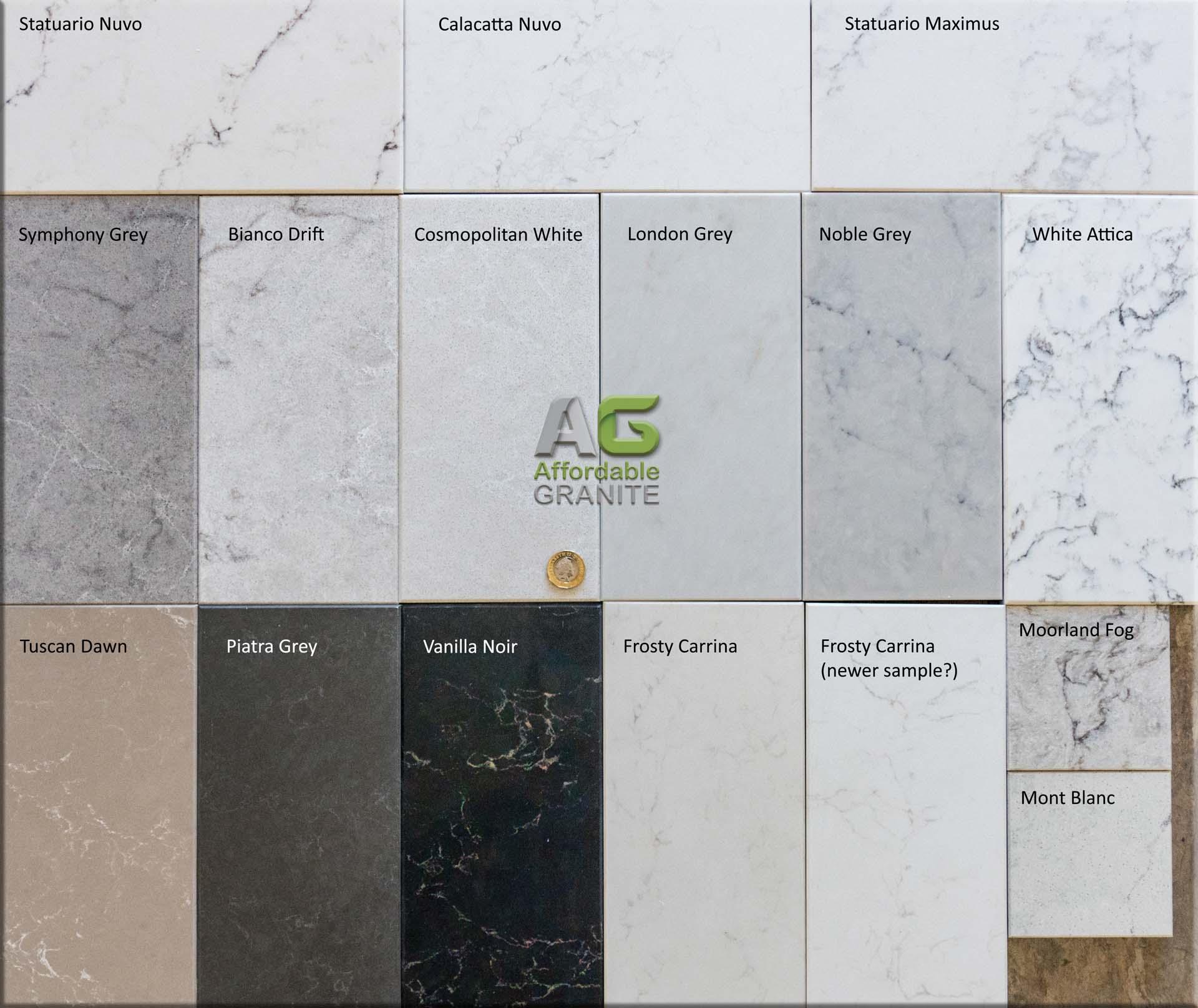 Caesarstone Marbled Quartz Groups 4 and 5a