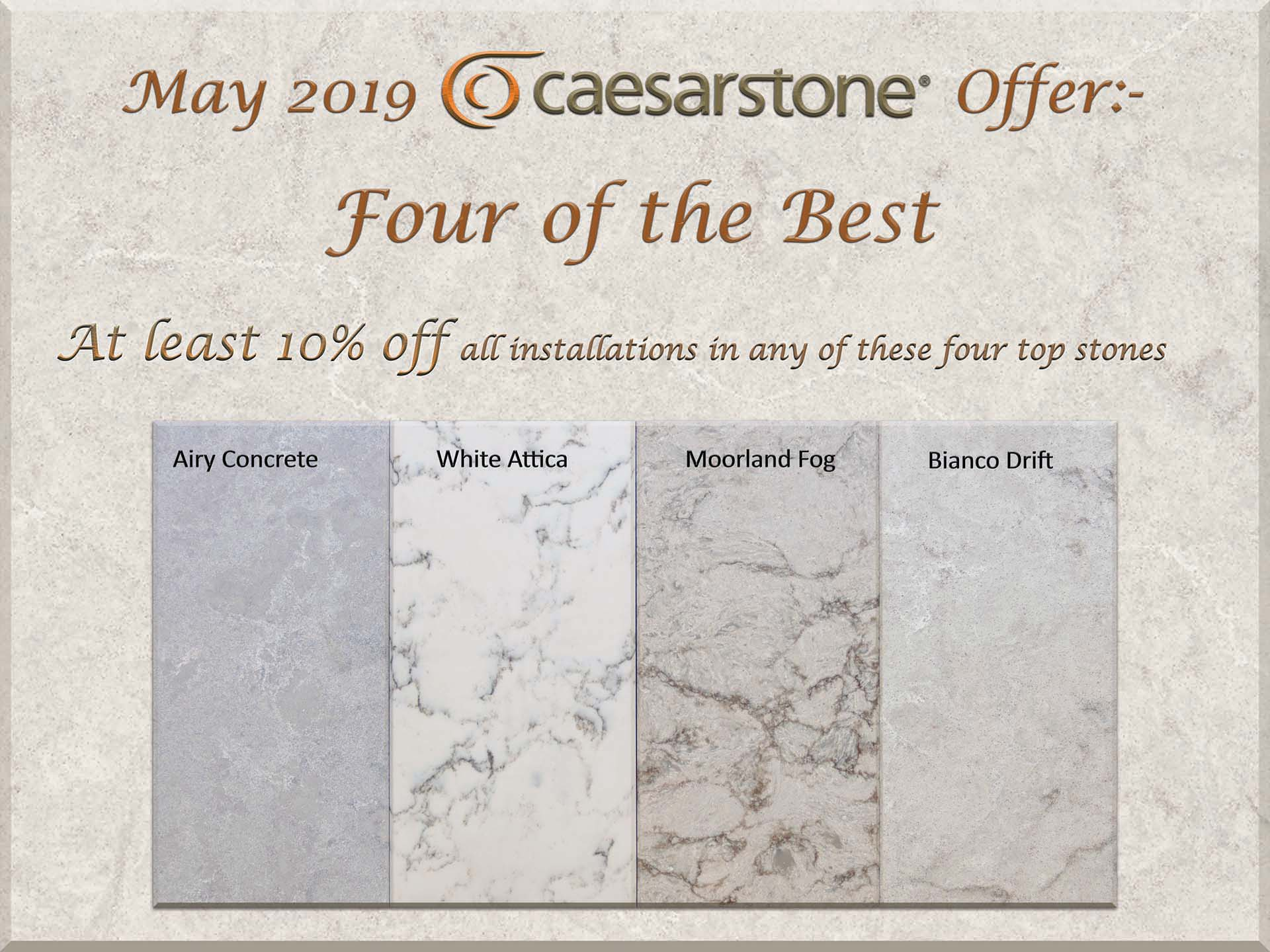 Caesarstone Offer Front Page Bouncer red