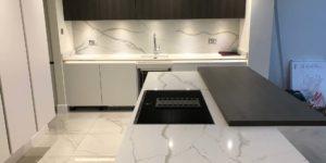 Calacatta lusso Kitchen supplied by Ballerina Kitchens