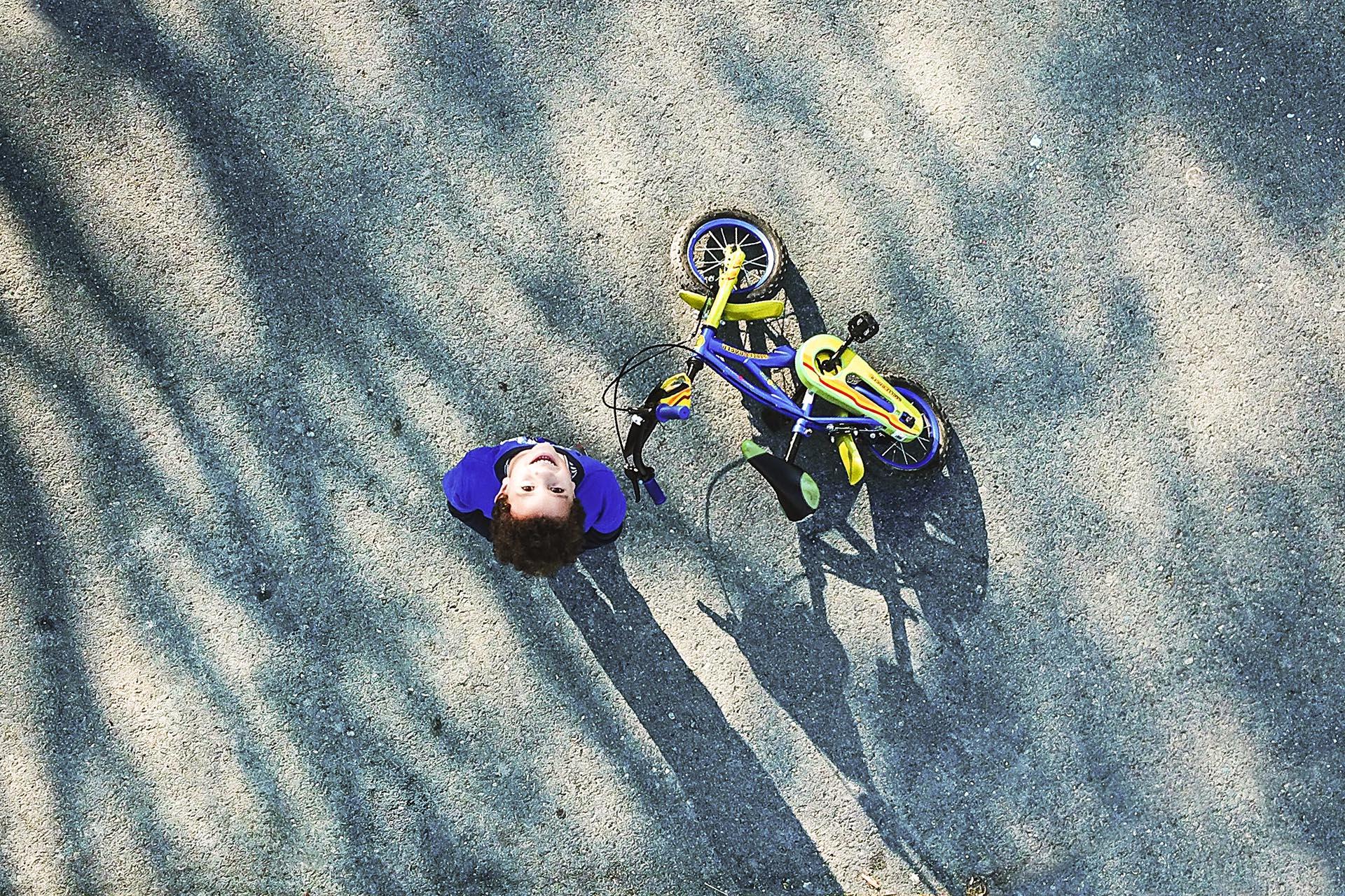 Child bicycle damage granite worktops