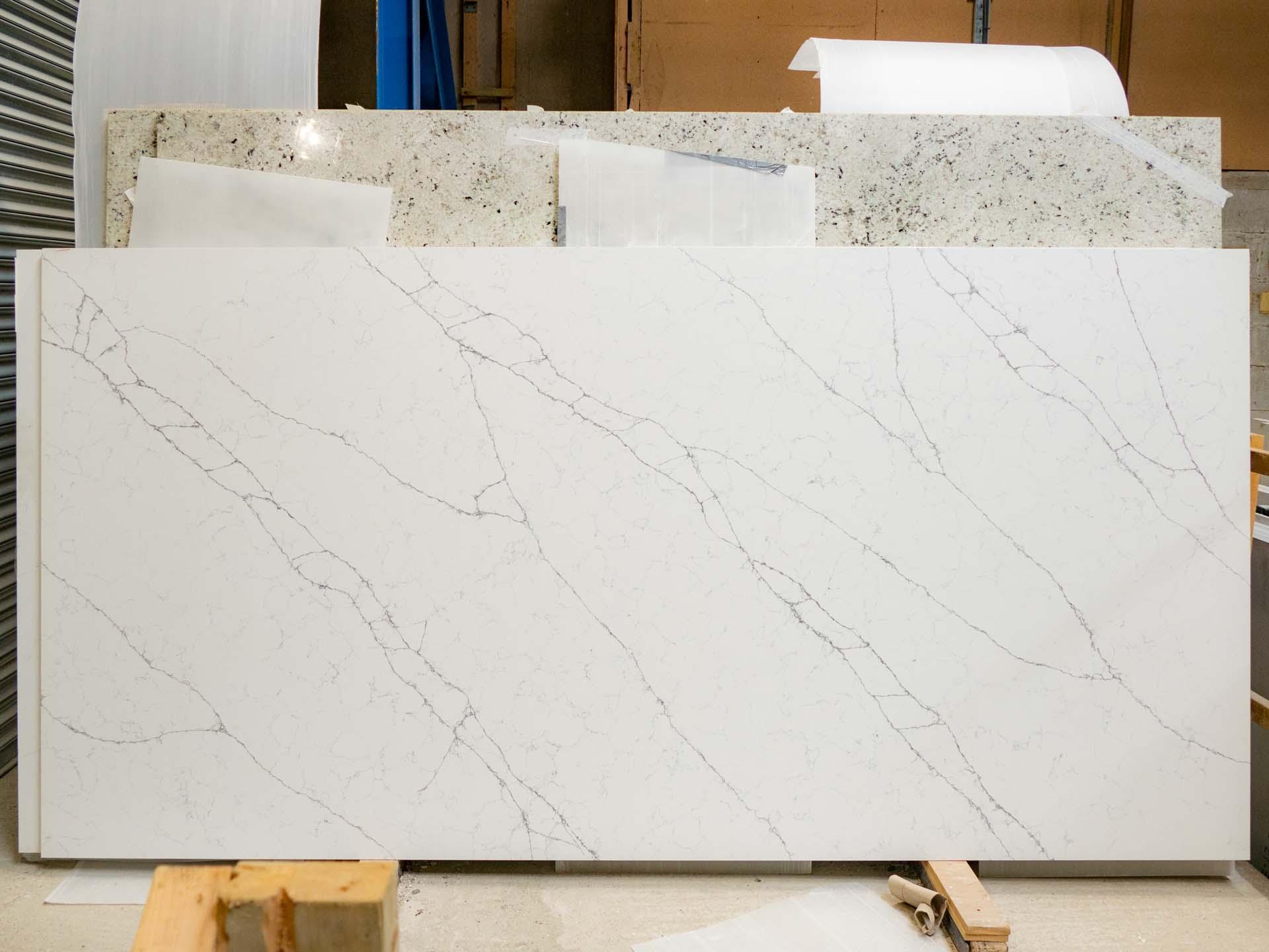 Classic Quartz Alaska Bianca quartz worktops marble look