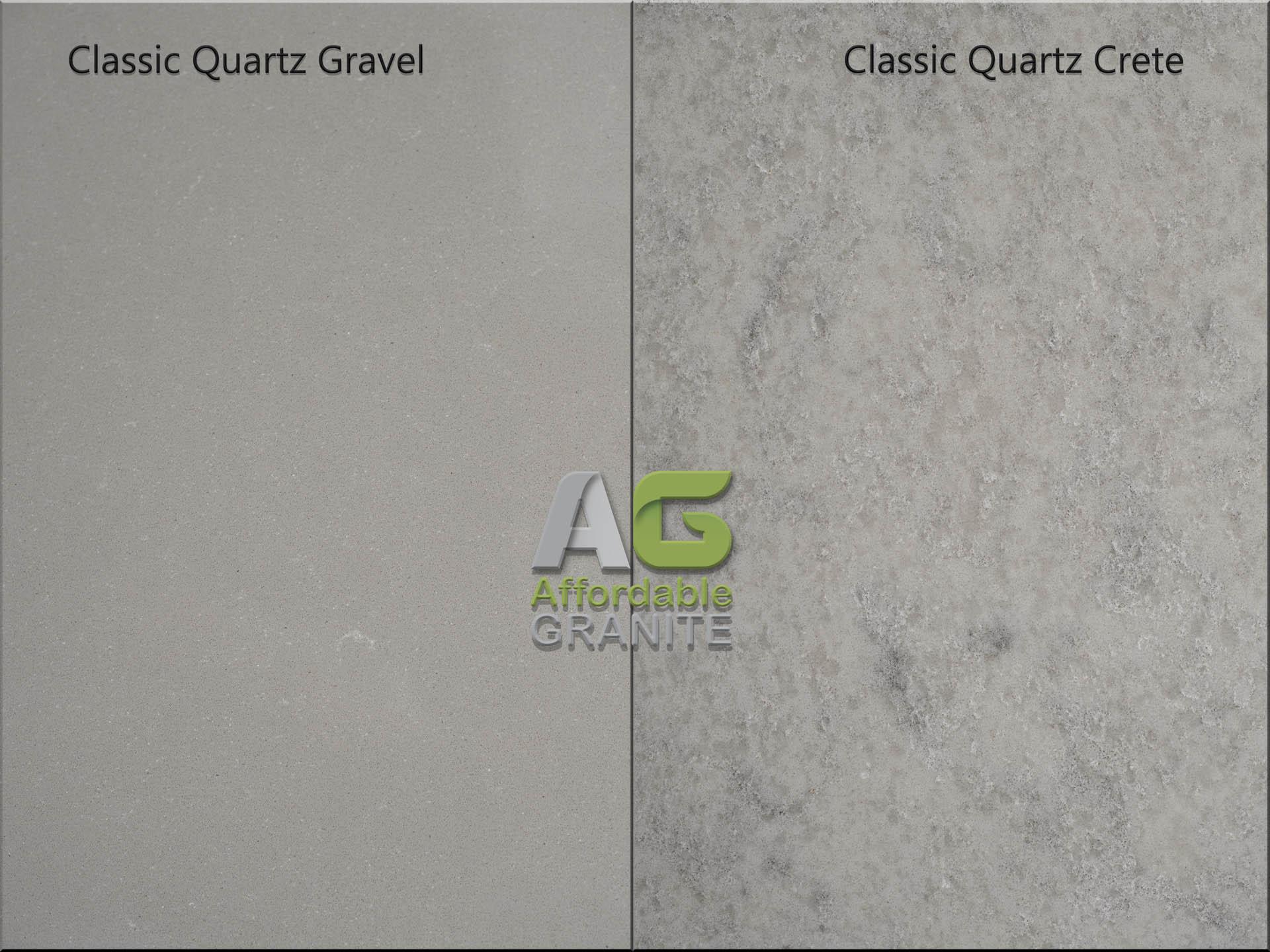 Classic quartz crete gravel red