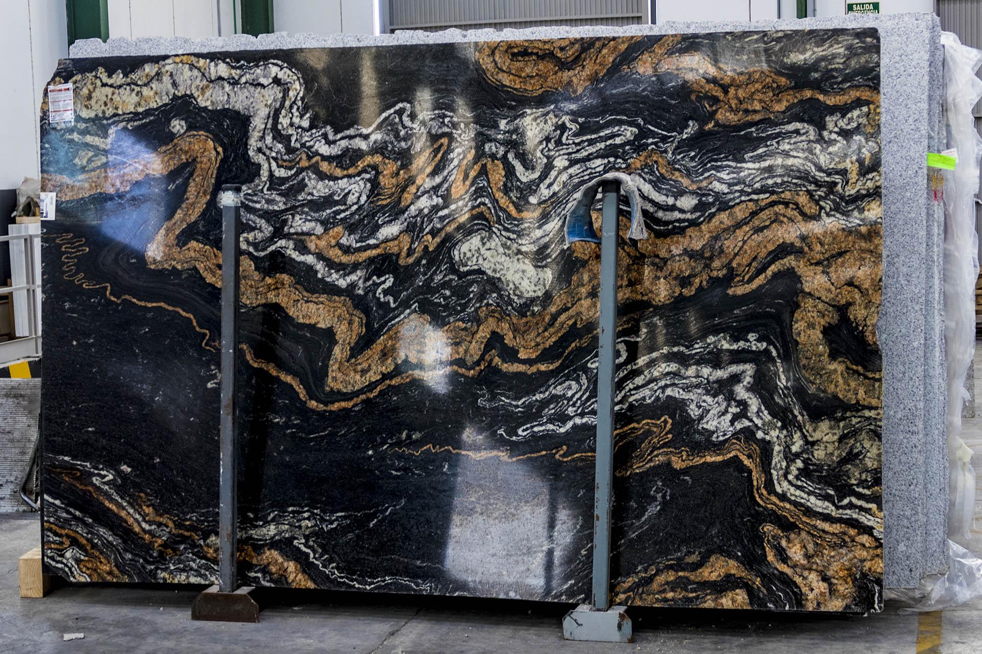 Cosentino sensa orinoco granite worktops black and gold