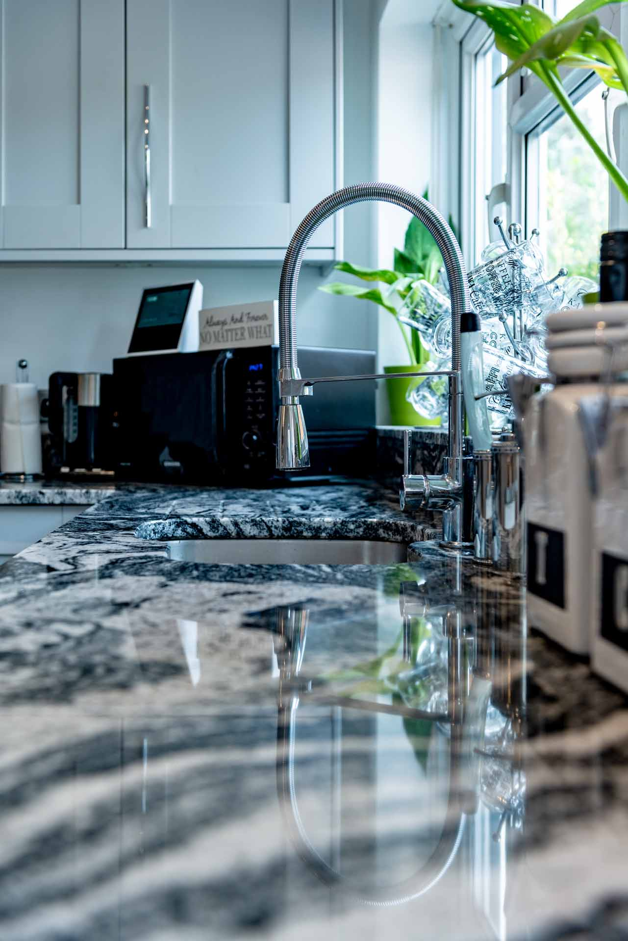 Cosmic White Granite Worktops, Redhill Surrey