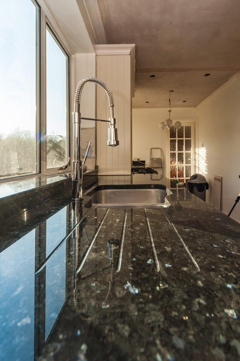 Blue Pearl And Emerald Pearl Granite Worktops Scandinavian Classics