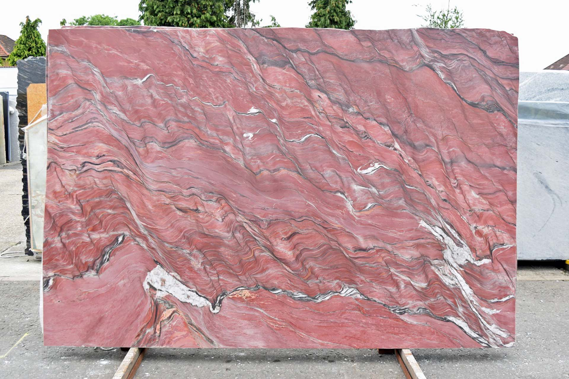 Fusion Fire (Polished) Block 526 – 3CM granite worktops Gerald Culliford