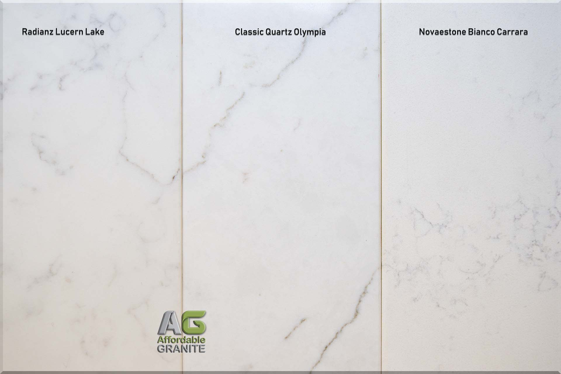 Radianz Lucern Lake Classic Quartz Olympia Novaestone Bianco Carrara red