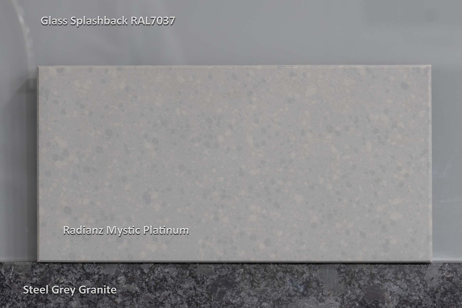 Radianz Mystic Platinum quartz worktops are the best say Brett and Jade from Cosentino red