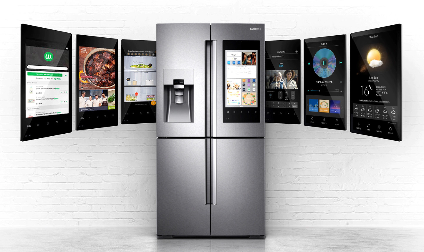 Samsung family hub fridge freezer kbb show 2020 affordable granite worktops