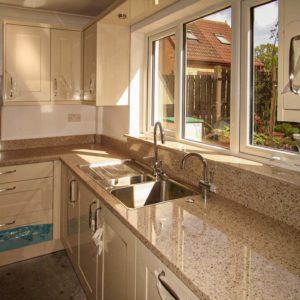 Silestone Bamboo quartz worktops windowsill