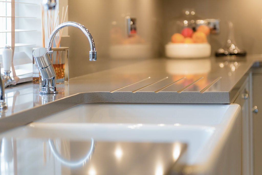silestone gris expo butler sink affordable quartz worktops