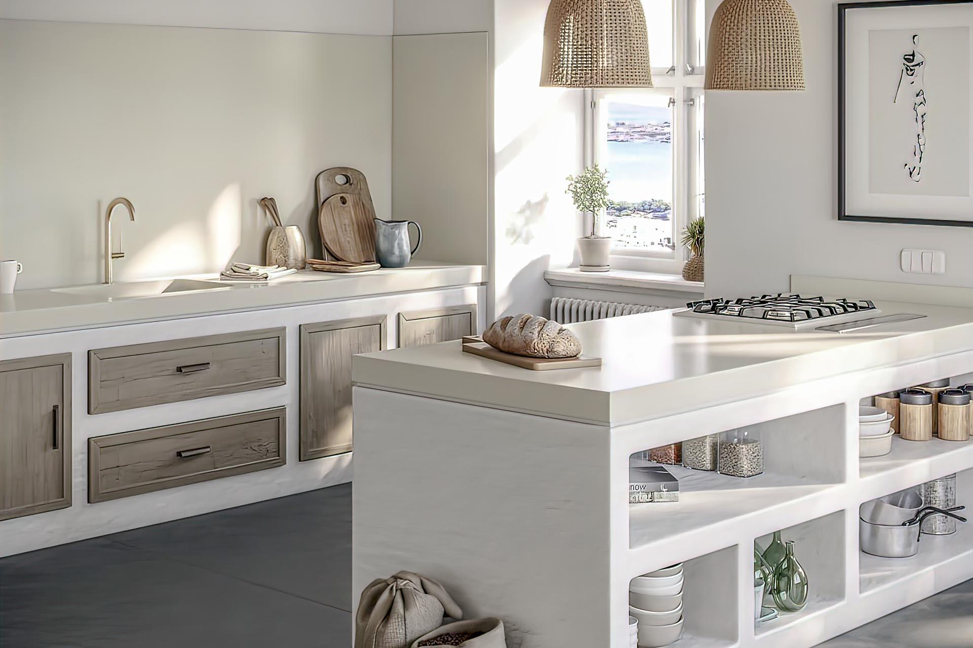 Silestone Kitchen worktops Sunlit days Faro White quartz
