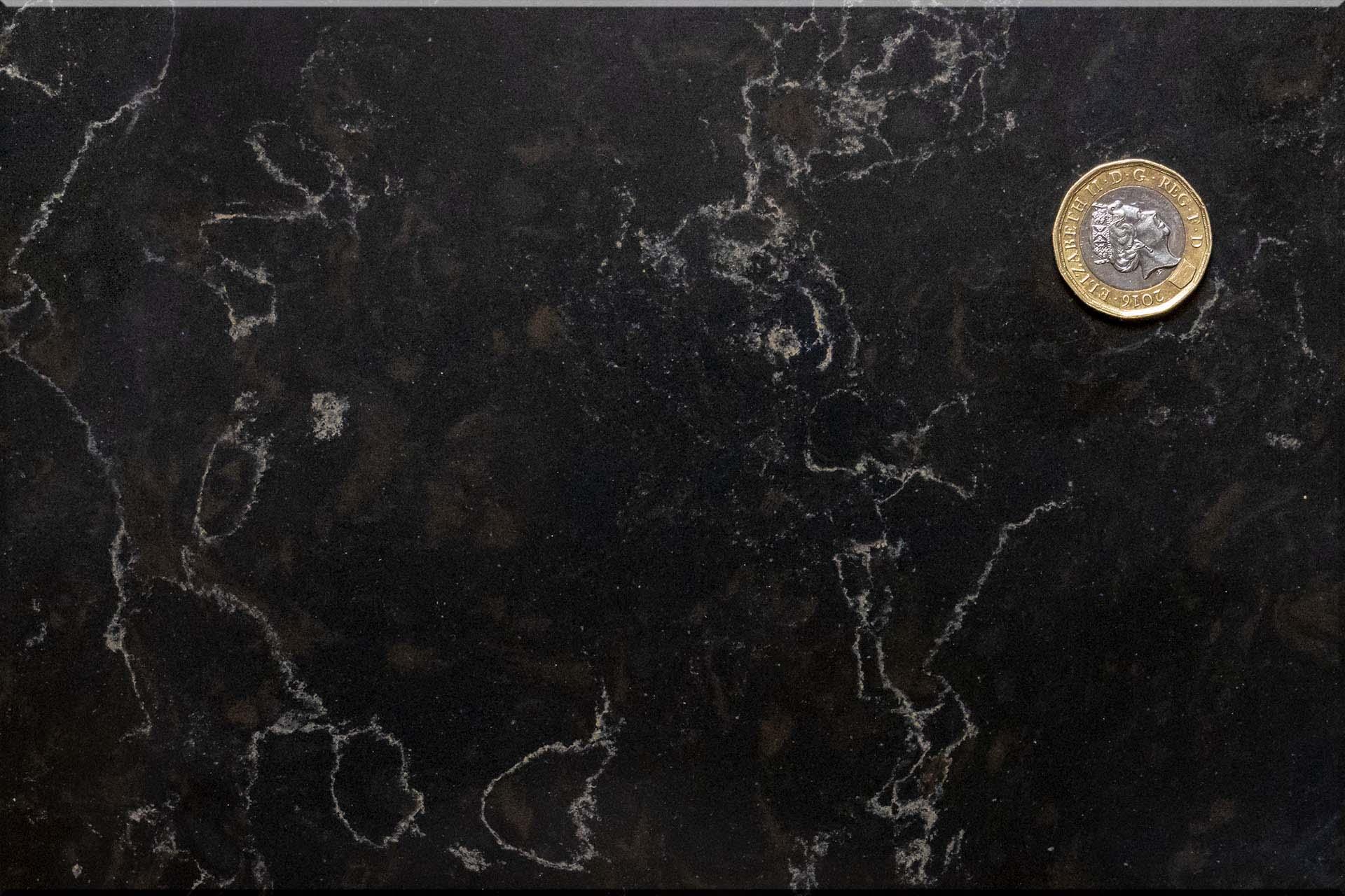 Unistone Java Black Noir Quartz Worktops 112444 red