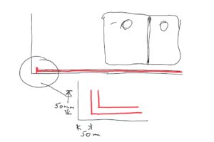 Reigate Surrey diagram of lighting strip groove