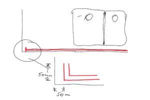 Reigate Surrey diagram of lighting strip groove