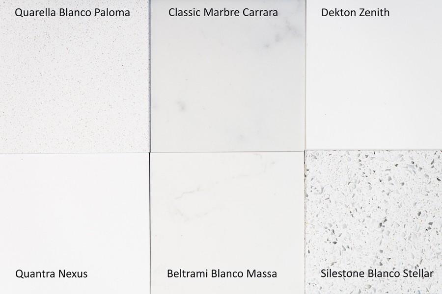 The White Stuff: White materials for kitchen worktops