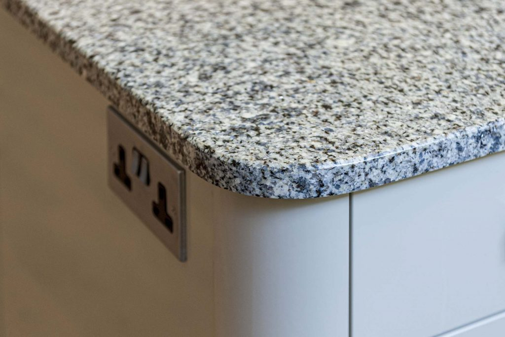 azul platino granite east grinstead 123213 curved corner over pilaster red