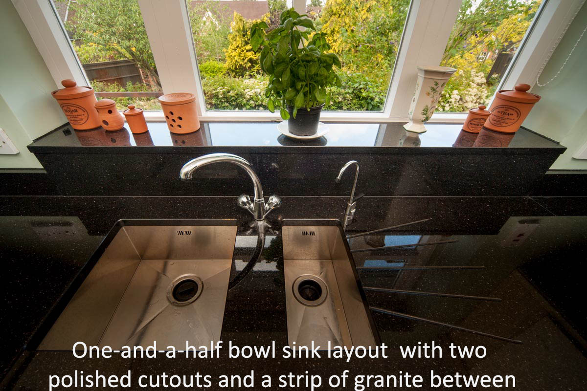 black galaxy granite south croydon worktop quotation sink cutouts