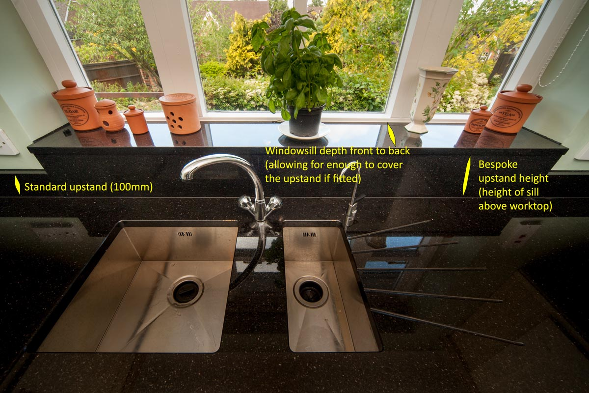 black galaxy granite south croydon worktop quotation windowsill