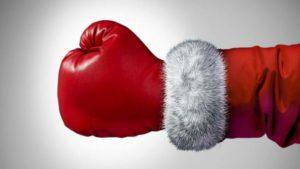 boxing santa