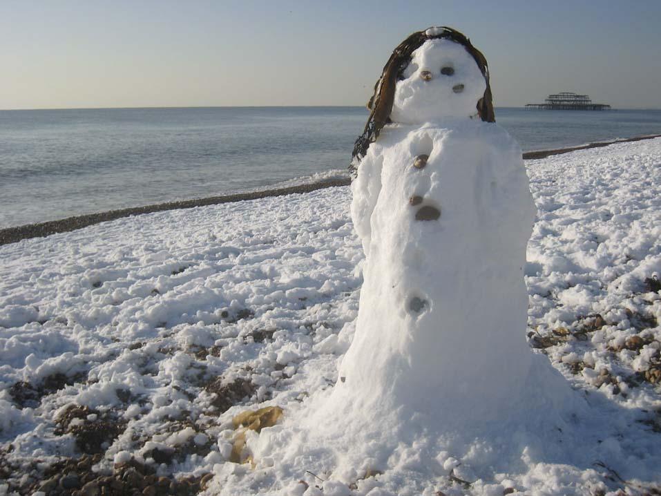 brighton beach snowman