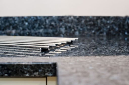 The blue colouring makes a fashionable change from the black granites