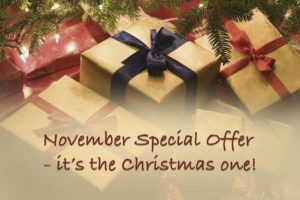 Christmas presents november special offer