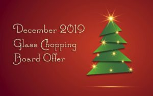christmas tree glass chopping board offer 2 red