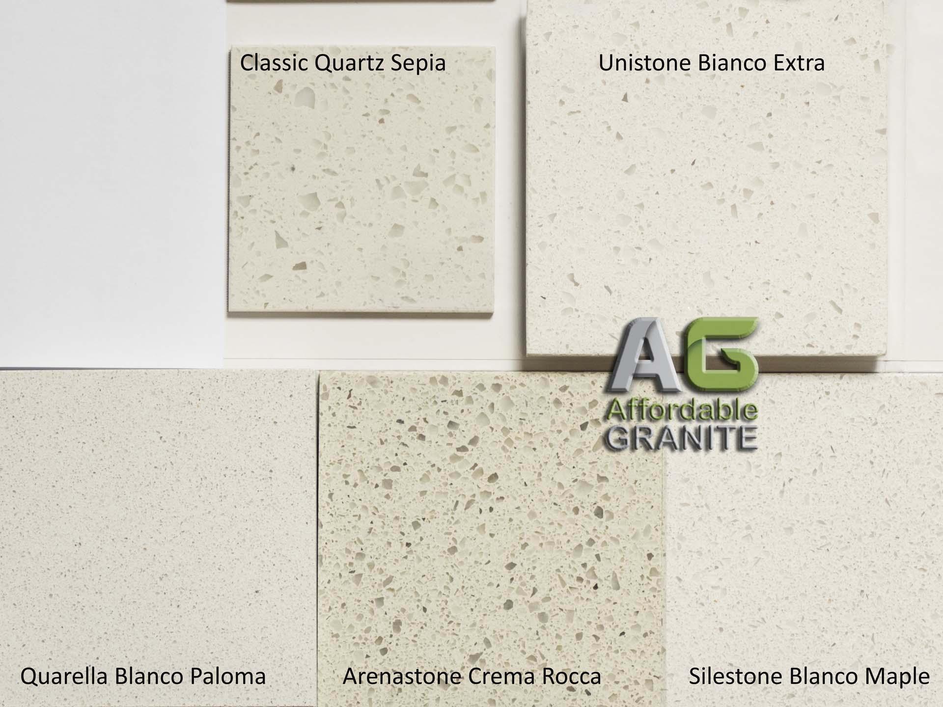 classic quartz sepia unistone bianco extra quarella blanco paloma arenastone crema rocca silestone blanco maple
