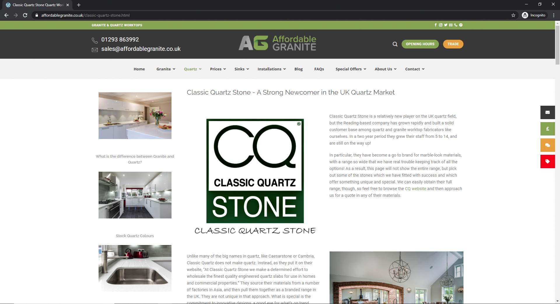 classic quartz worktops affordable granite