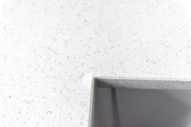 Silestone Blanco Stellar Quartz worktops fitted in Crawley, West Sussex