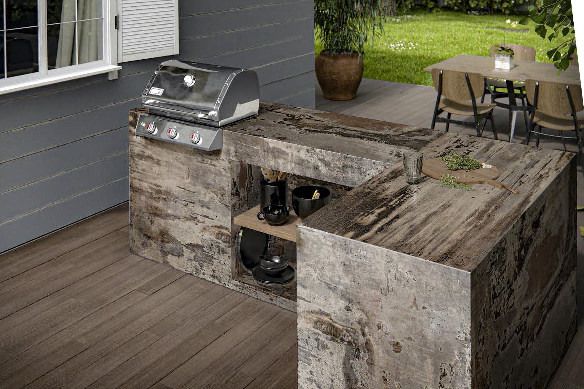 dekton outdoor kitchen worktops barbecue Computer graphics image trilium