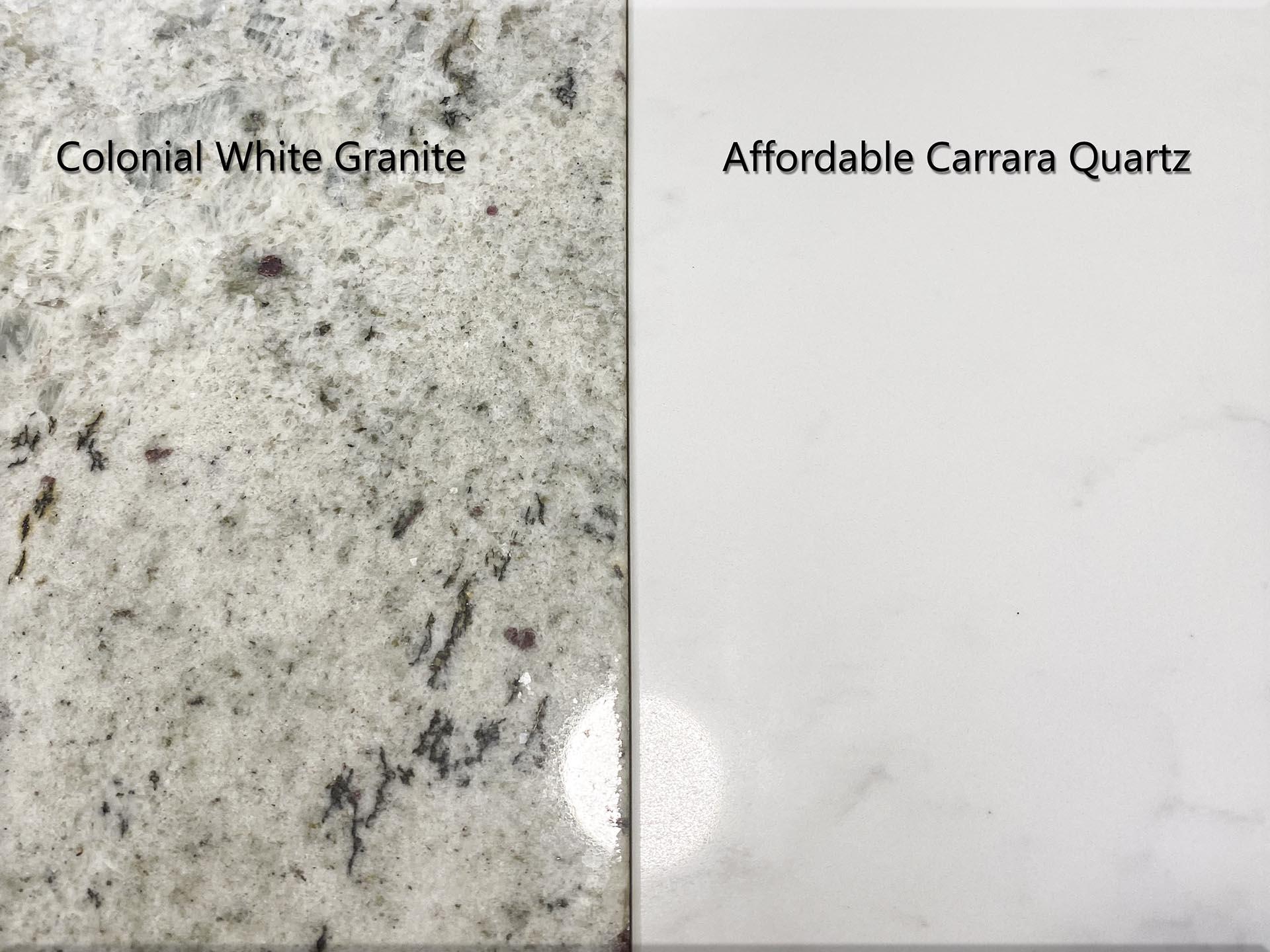 granite quartz reflection polish staining worktops red