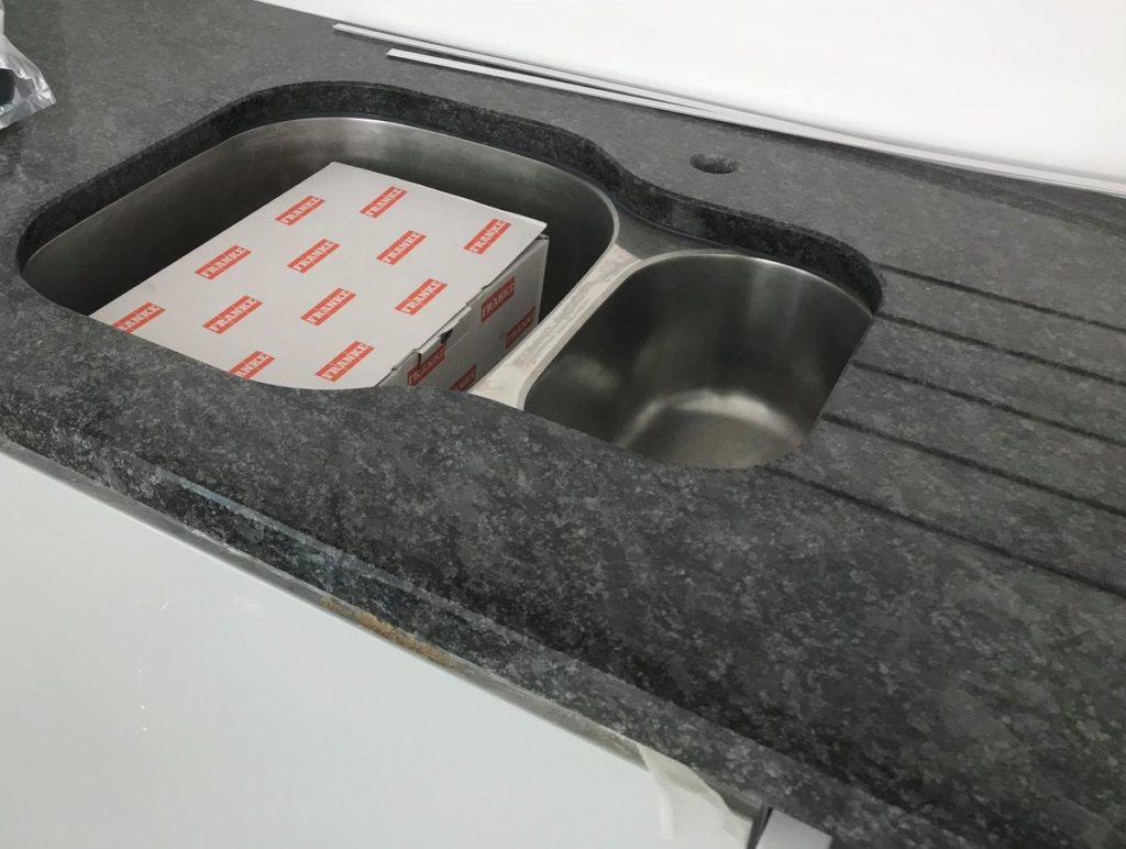 granite worktops bookham steel-grey-kitchen-undermount