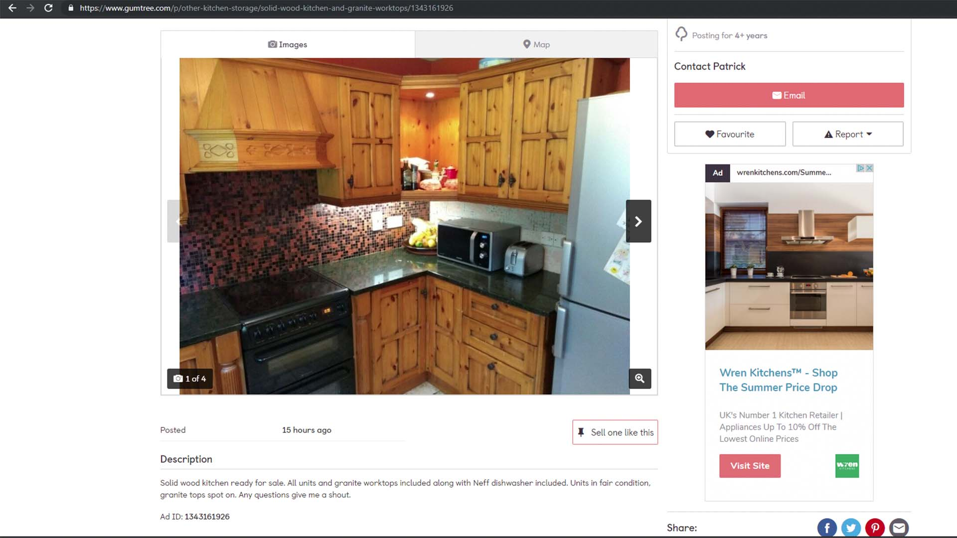gumtree granite worktops whole kitchen ebay