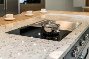 hks haywards heath flush-mount induction hob colonial white granite worktops