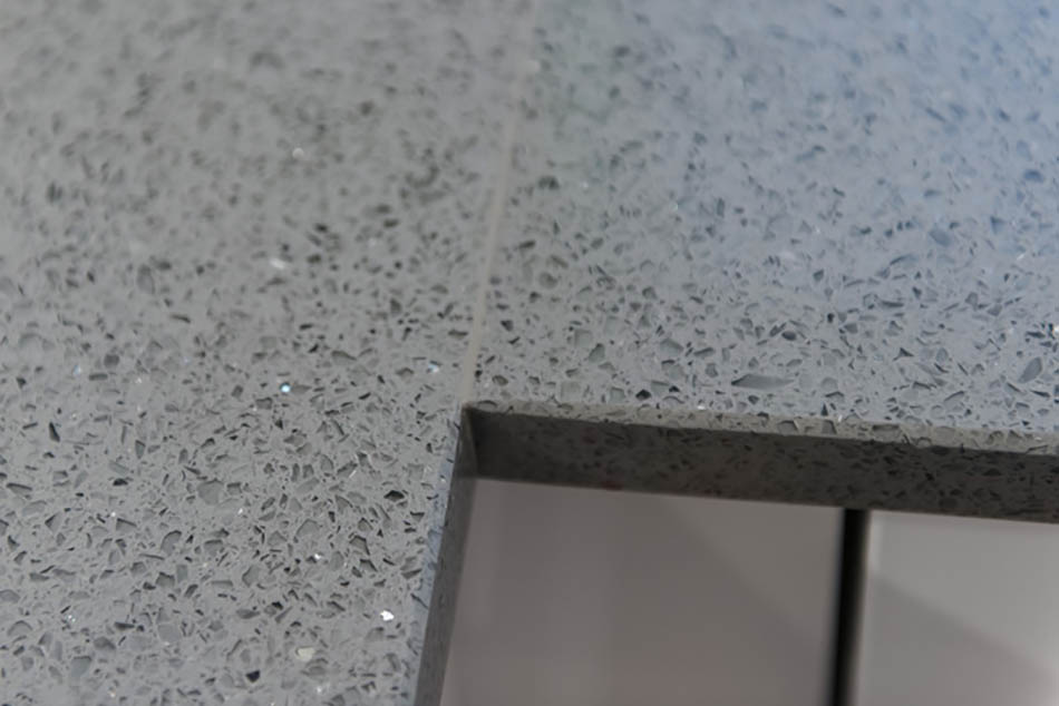 Brillo Gris quartz worktops installed in Horley, Surrey