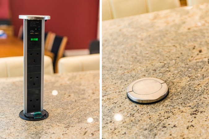 CAN YOU FIT A POP-UP ELECTRICAL SOCKET IN A KITCHEN WORKTOP, GRANITE OR QUARTZ?