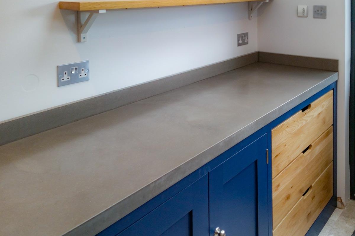 kitchen worktops materials concrete