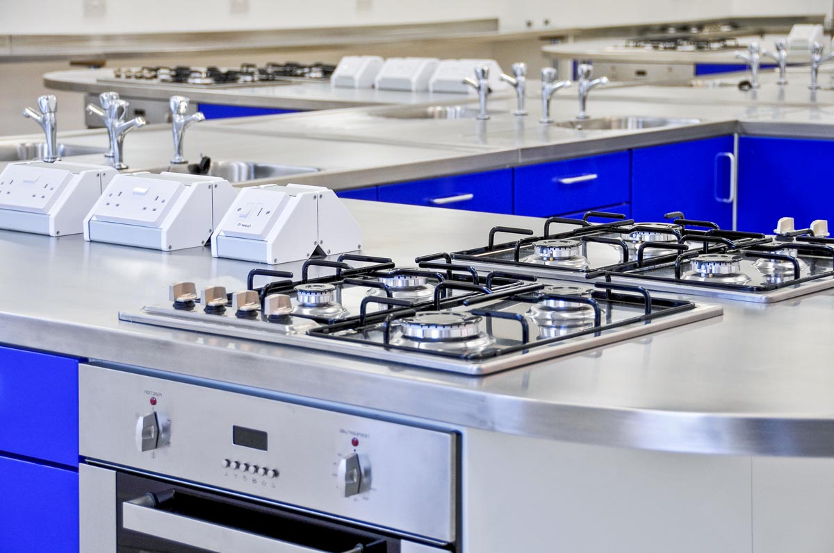 kitchen worktops stainless steel