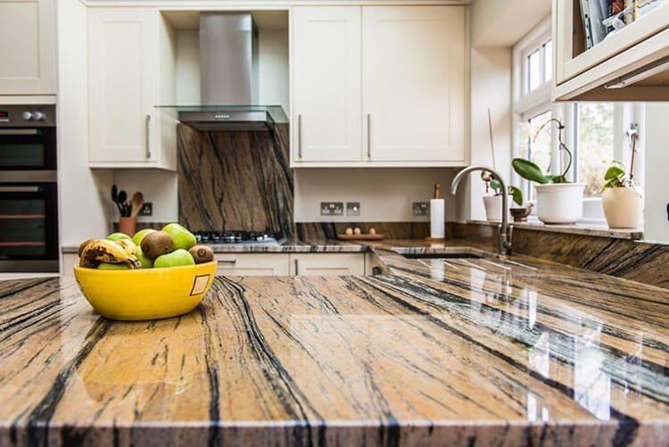 Lemon Spice granite kitchen worktops Middlesex