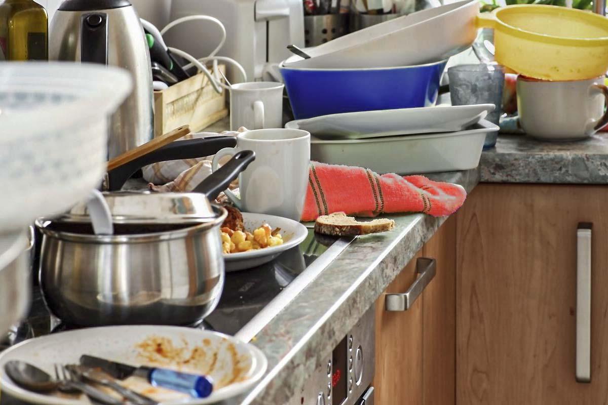 messy kitchen lockdown design granite worktops